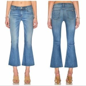 Hudson Mia 5 Pocket Crop Flare Jeans in Carve 32